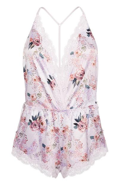 Combi-short de pyjama rose