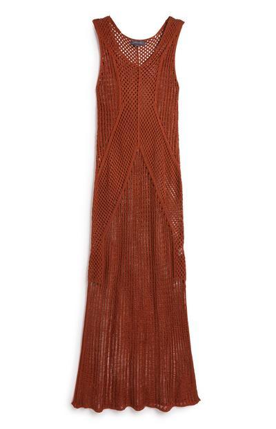 Robe longue en maille