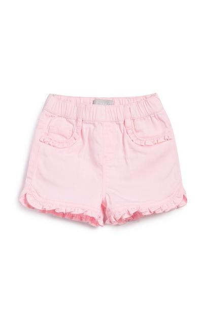 Calções menina bebé cor-de-rosa