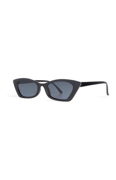 Schwarze Katzenaugen-Sonnenbrille