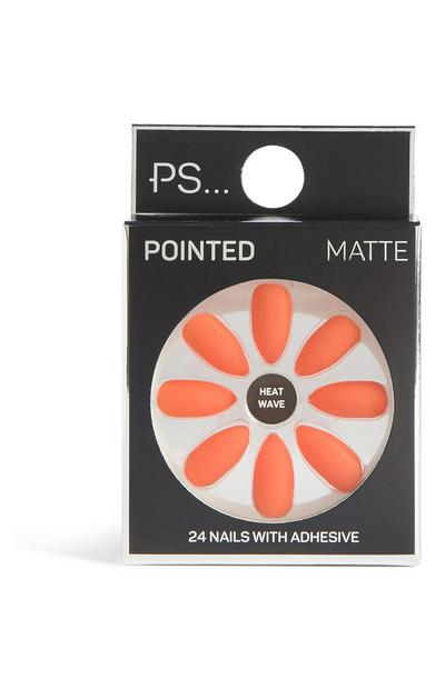 Pointed Matte False Nails