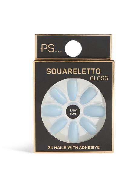 Glanzende kunstnagels squareletto