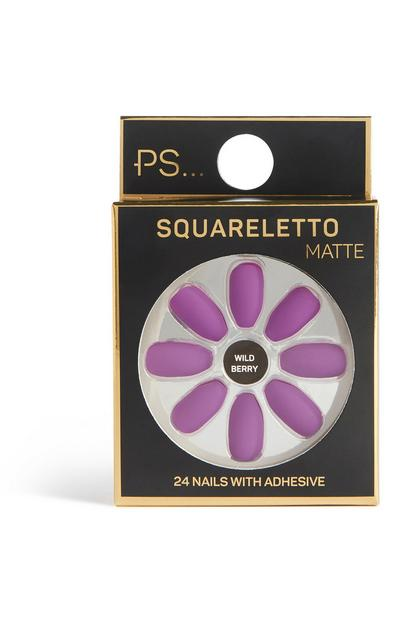 Faux ongles mats Squareletto