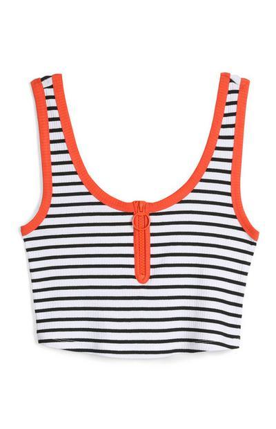 Stripe Crop Vest