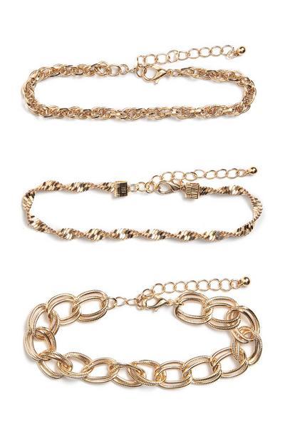 Lot de 3bracelets chaînes