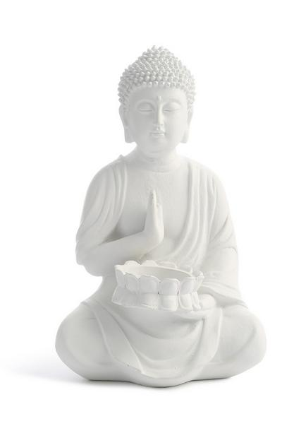 Décoration bouddha blanche