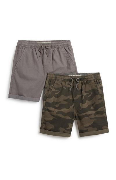 Canvas short, jongens, 2 st