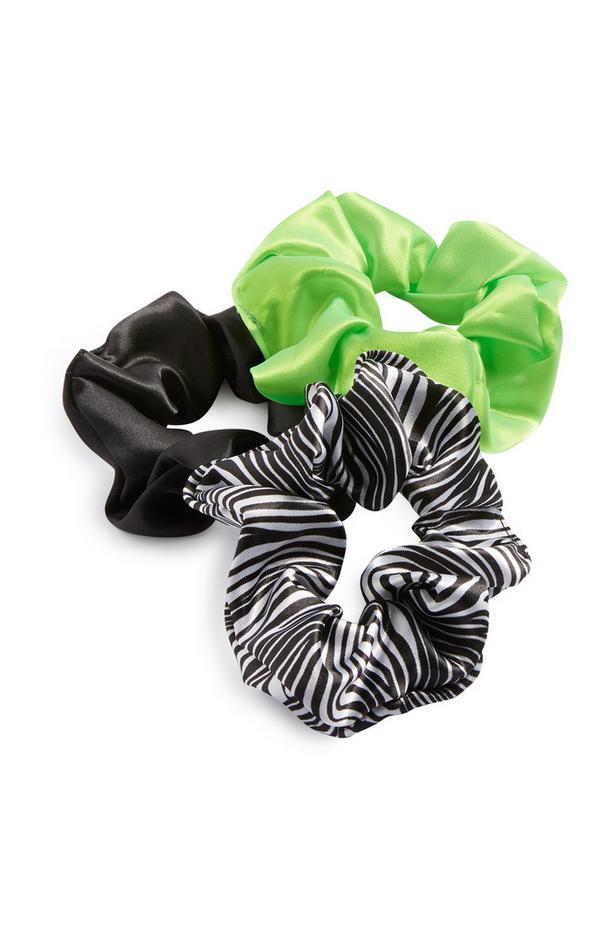 Mixed Hair Scrunchie 3Pk