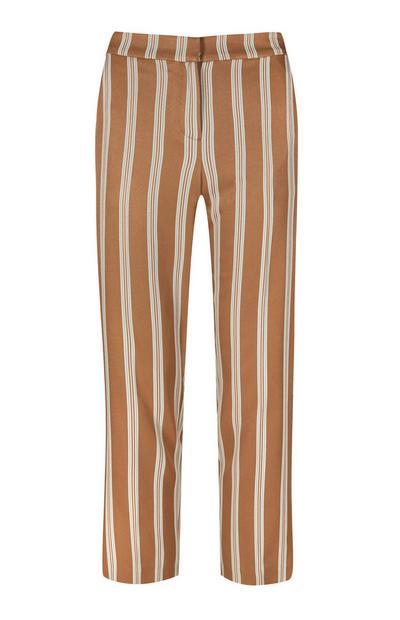 Pantalón a rayas color camel