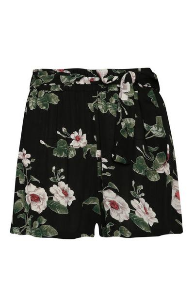 Short à fleurs
