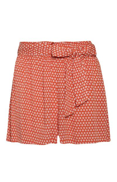 Short à motifs orange