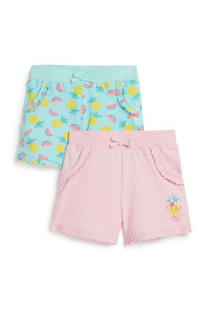 Lot de 2 shorts fille