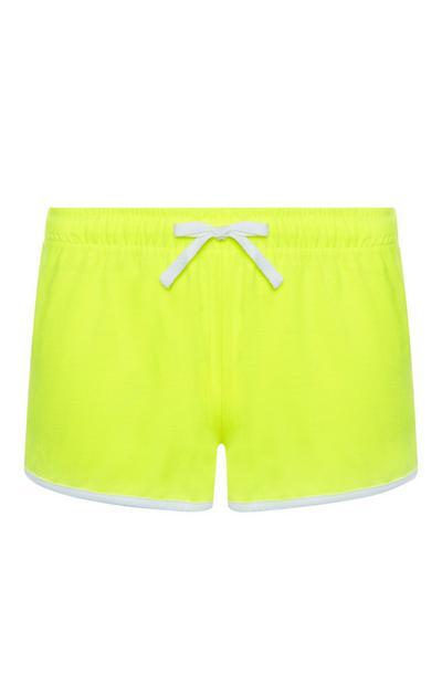 Pantalones cortos deportivos amarillos