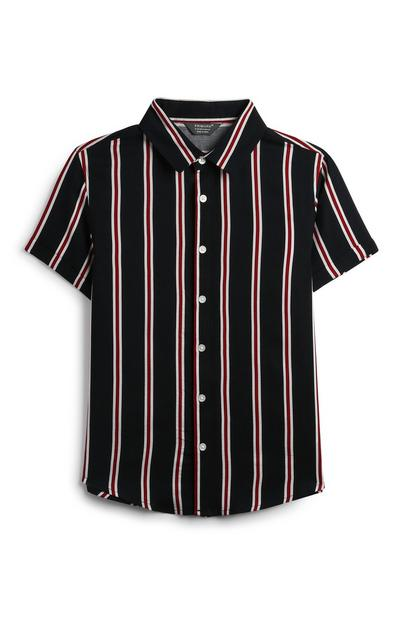 Older Boy Vertical Striped Shirt
