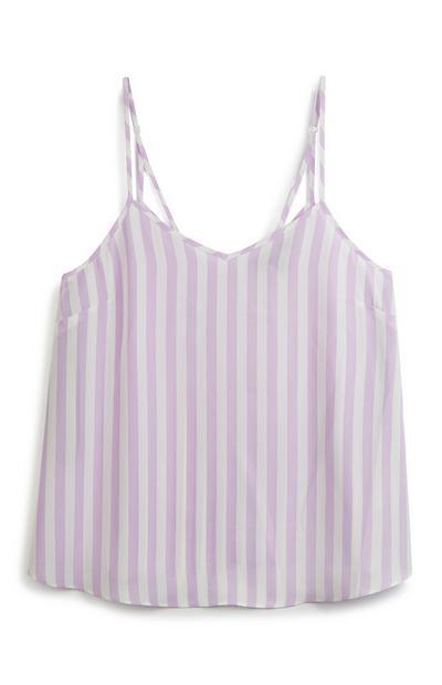 Lilac Stripe Cami Top