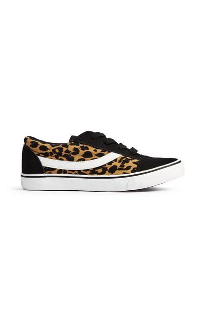 Sportieve schoen met luipaardprint