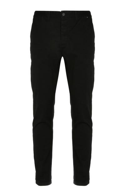 Schwarze Slim-Fit-Chinohose mit Stretch