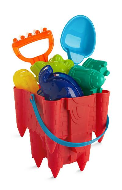 Red Beach Bucket Set