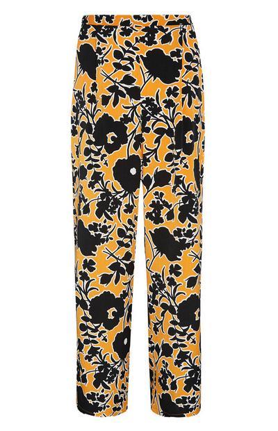 Pantalón de flores amarillo