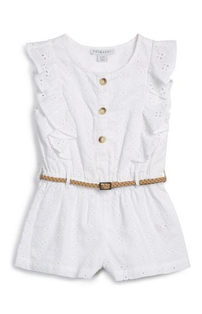 Younger Girl White Playsuit