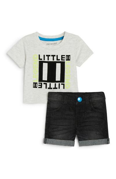 Short en jean bébé garçon