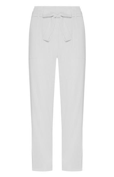 Witte broek met riem