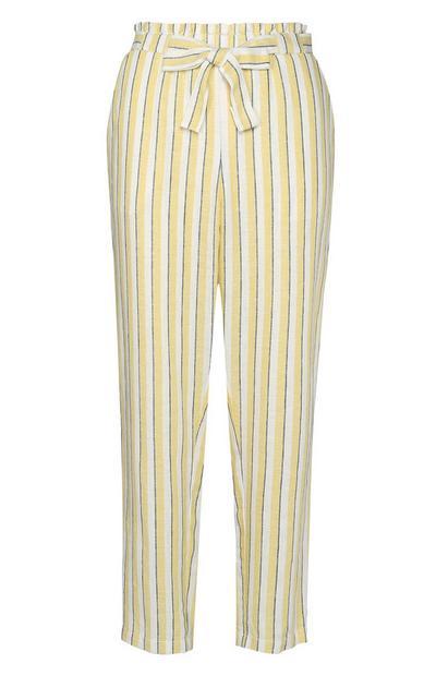 Pantalón a rayas amarillas