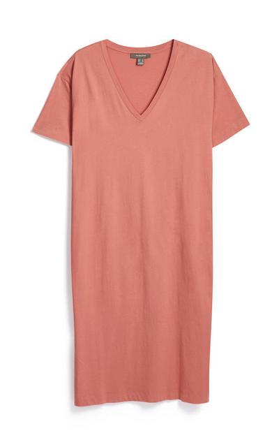 Oversized V Neck T Shirt
