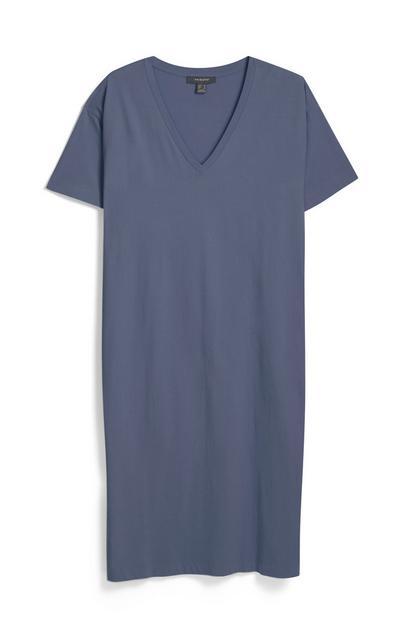 Camiseta holgada con cuello de pico
