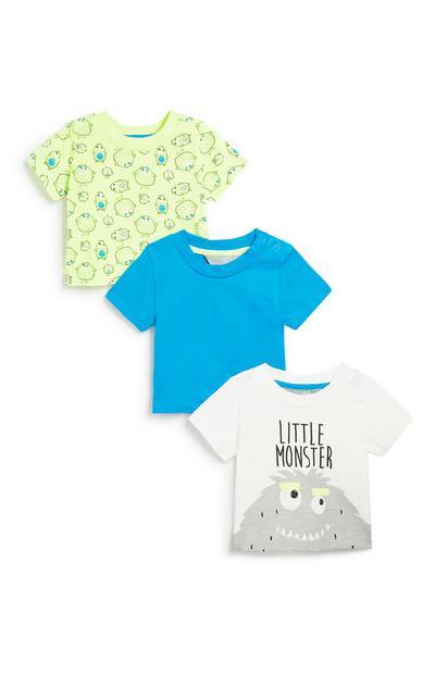 Babyhemdje met korte mouwen voor jongens, 3 st.