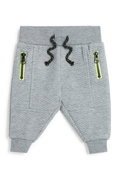 Pantalón de chándal gris para bebé