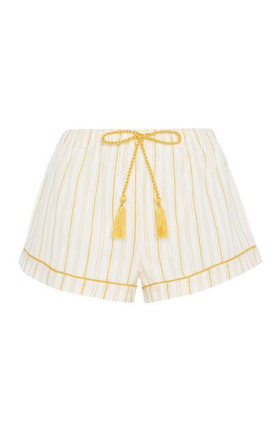 Short met gele strepen