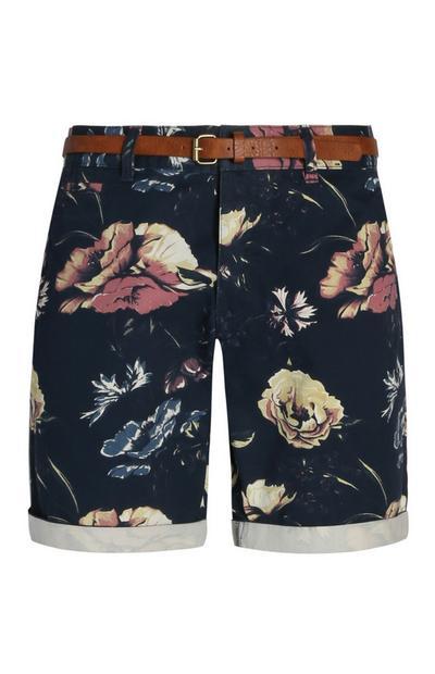 Floral Belted Shorts