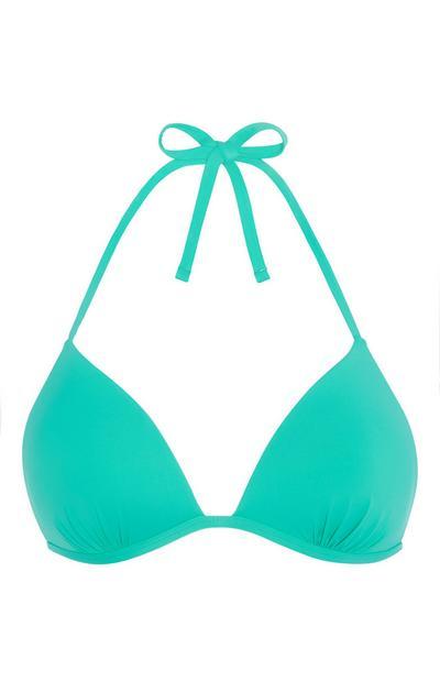 Top de bikini verde