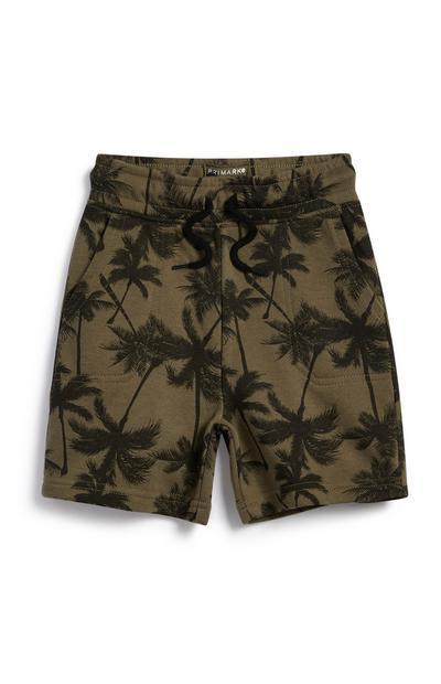 Pantalones cortos con palmeras