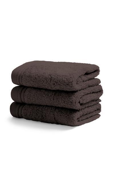 Pack 3 toalhas rosto cinzento-ardósia