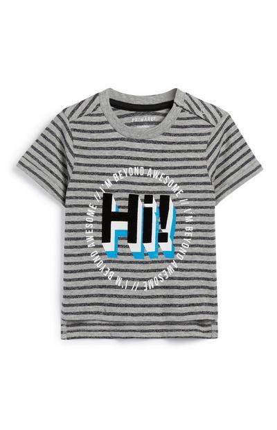 Baby-T-shirt met tekst