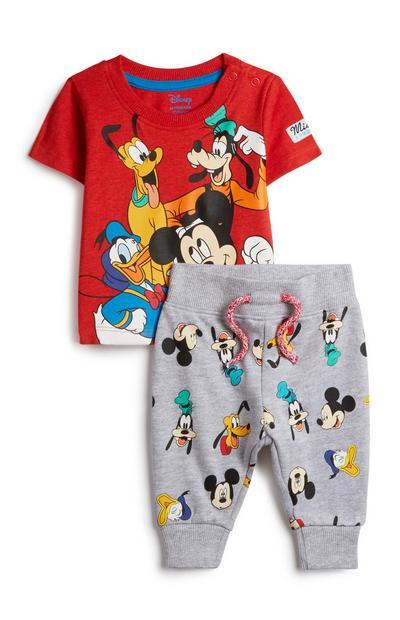 Fantovski dvodelni komplet Mickey Mouse za dojenčke, 2 kosa
