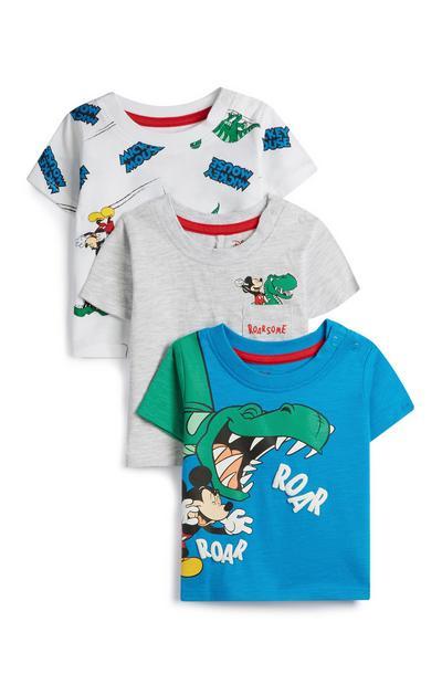 Baby Boy Mickey Mouse T-Shirts 3Pk