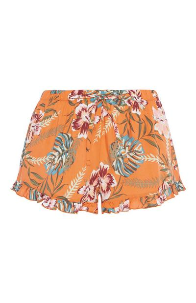 Oranage Floral Pyjama Short