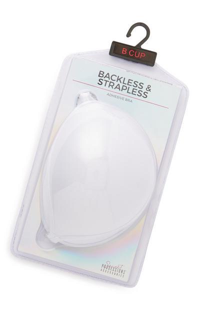 Witte strapless beha