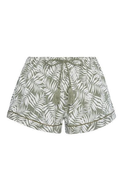 Short met palmenprint