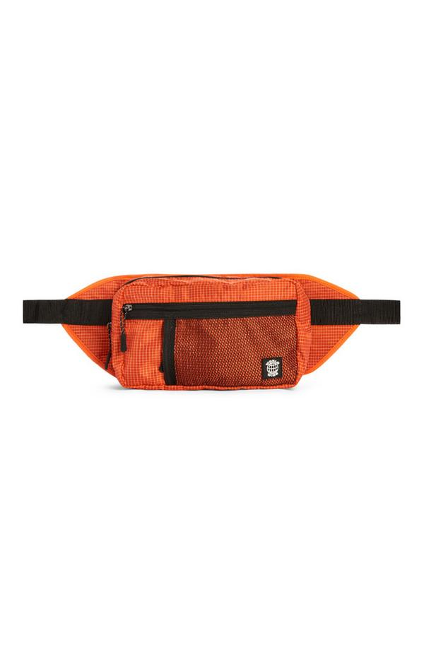 Orange Check Bum Bag