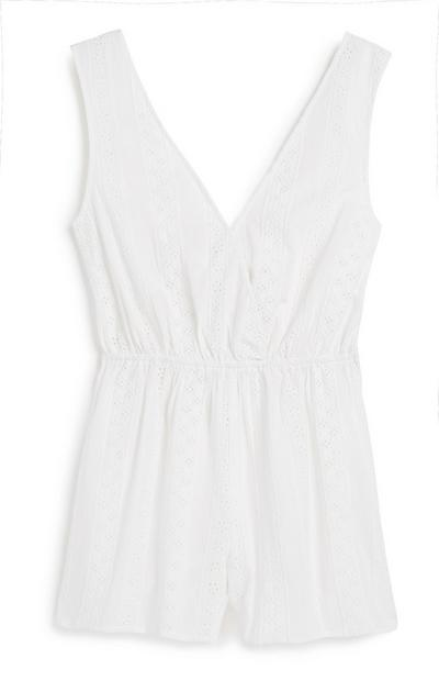Ivoorkleurige playsuit