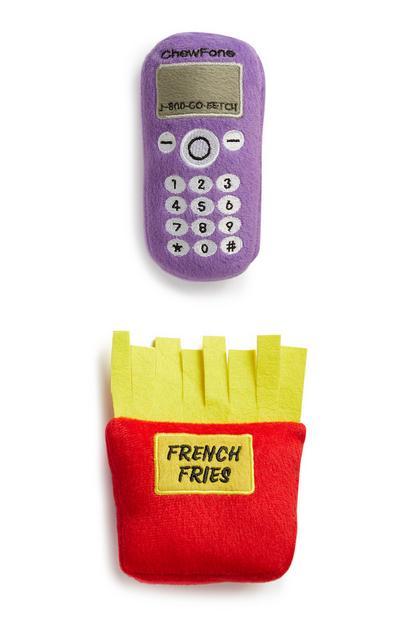 Frietjes en telefoon, speelgoed, set van 2