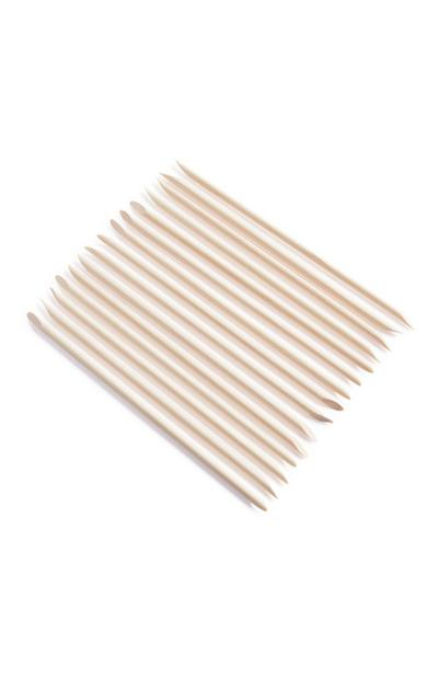 15-Pack Wooden Cuticle Stick