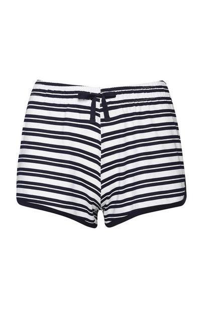 Shorts a righe blu navy