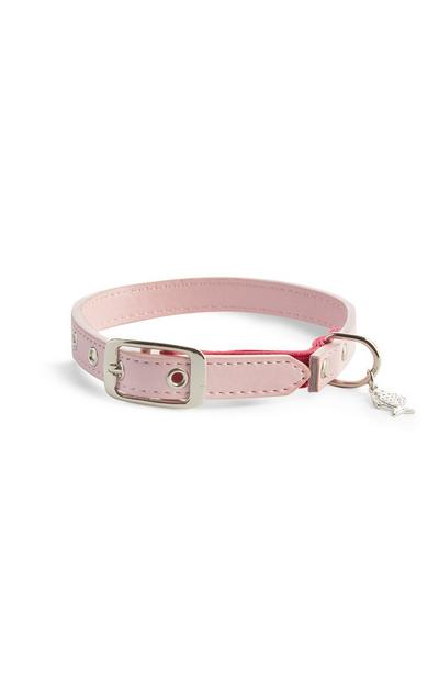 Roze poezenhalsband