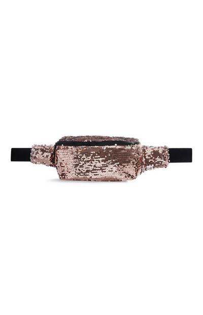 Blush Sequin Bum Bag