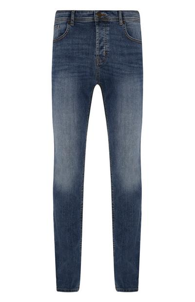 Blauwe slim-fit jeans met stretch